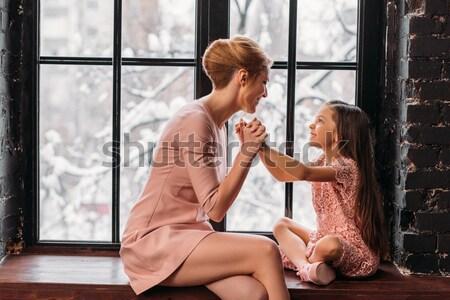 女性 男 オフィス 若い女性 座って ストックフォト © LightFieldStudios