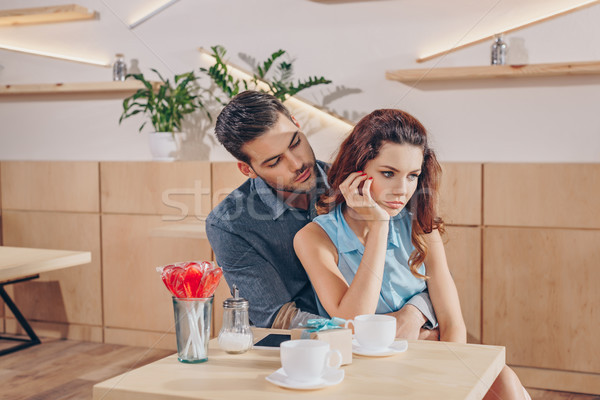 Couple romantique date homme bouleversé Photo stock © LightFieldStudios
