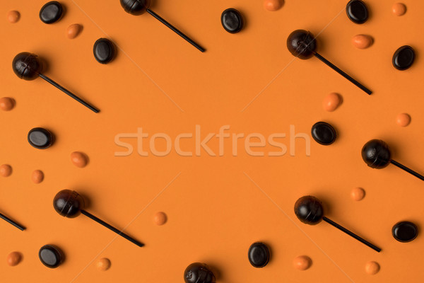 Preto laranja topo ver saboroso halloween Foto stock © LightFieldStudios