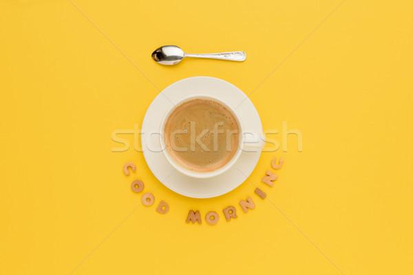 Top beker vers hot koffie Stockfoto © LightFieldStudios