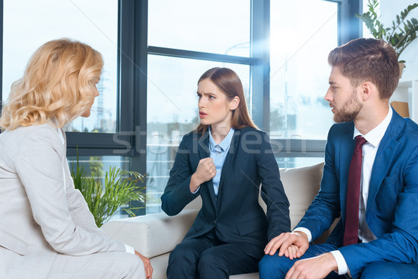 психолог говорить служба врач Сток-фото © LightFieldStudios