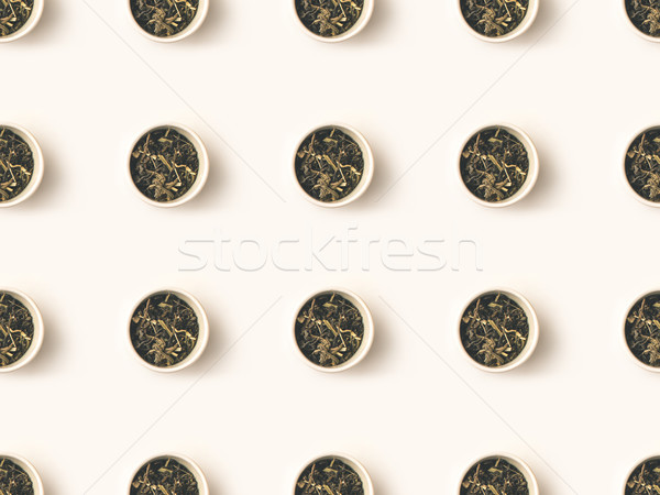 dry tea in bowls Stock photo © LightFieldStudios