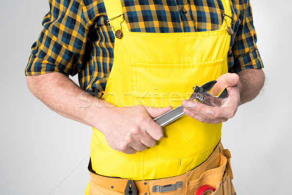 Workman with tool belt  Stock photo © LightFieldStudios