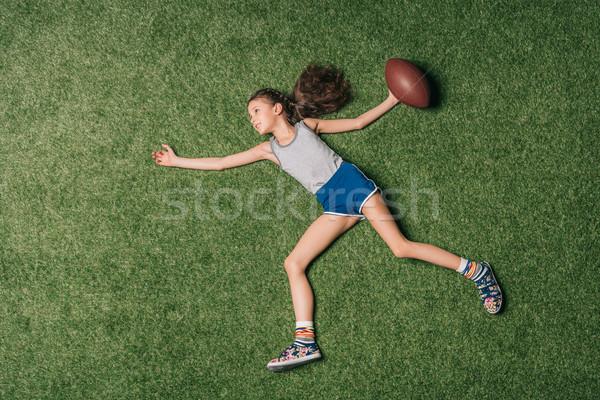 Top view piccolo ragazza Foto d'archivio © LightFieldStudios