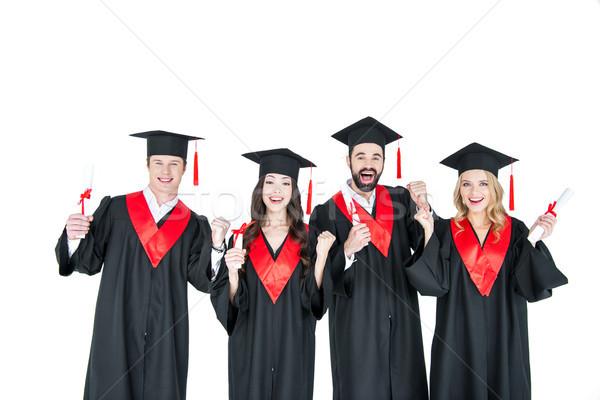 Szczęśliwy młodych studentów akademicki uśmiechnięty Zdjęcia stock © LightFieldStudios