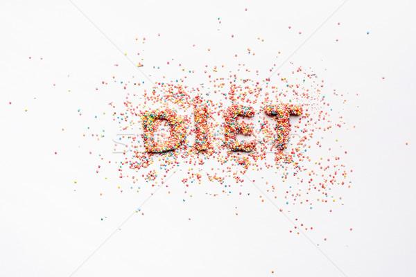 Stok fotoğraf: üst · görmek · kelime · diyet · şekerleme · yalıtılmış
