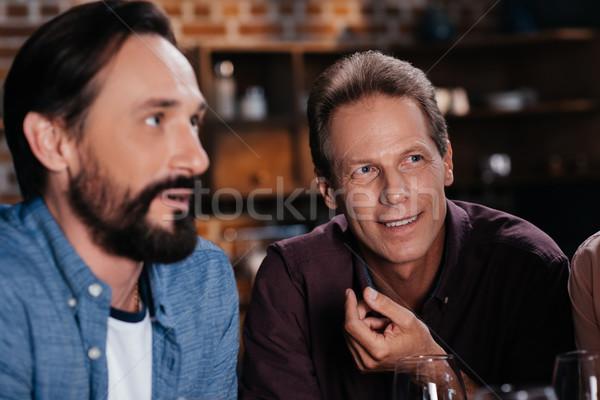 W średnim wieku mężczyzn portret dwa przystojny Zdjęcia stock © LightFieldStudios