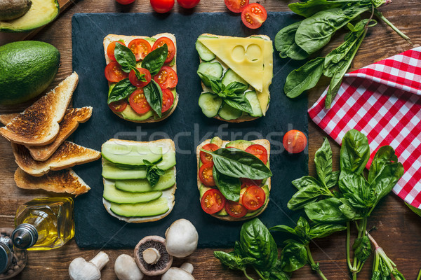 Smaczny śniadanie warzyw jedzenie życia posiłek Zdjęcia stock © LightFieldStudios