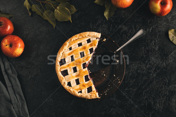 apple pie and cake server Stock photo © LightFieldStudios