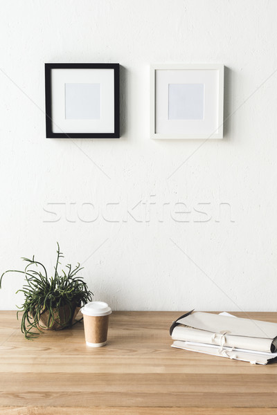 photo frames hanging on wall in room Stock photo © LightFieldStudios