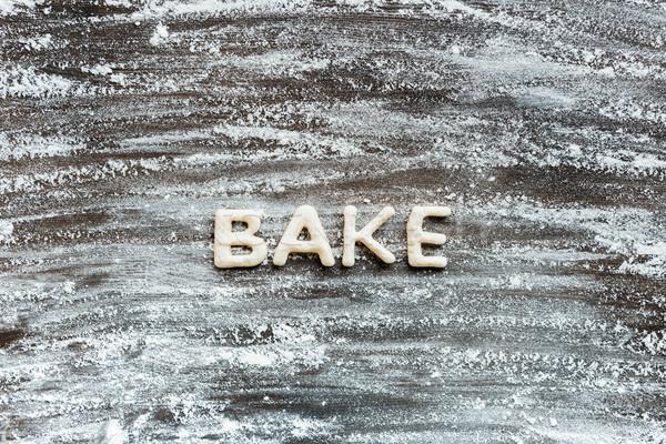 Topo ver palavra assar bolinhos farinha Foto stock © LightFieldStudios