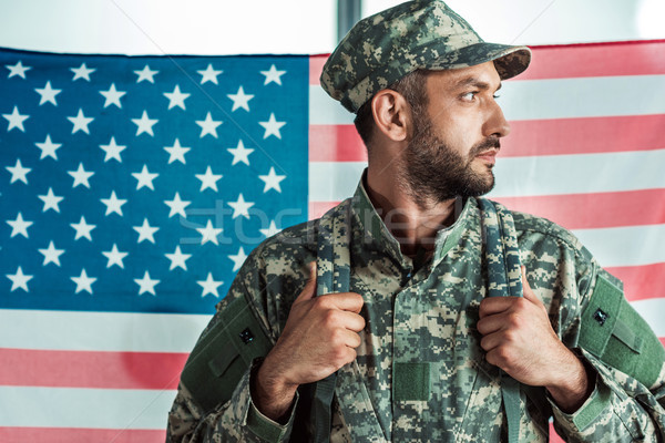 soldier in military uniform Stock photo © LightFieldStudios