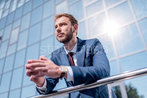 Stock photo: stylish businessman in suit