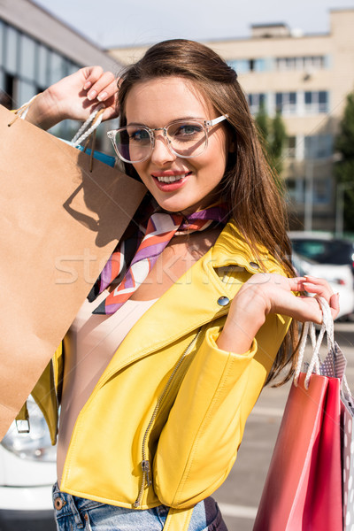 girl with shopping bags Stock photo © LightFieldStudios