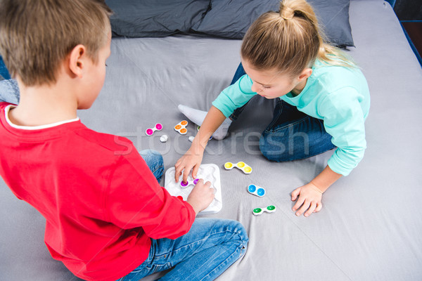 Children playing with colorful toy Stock photo © LightFieldStudios