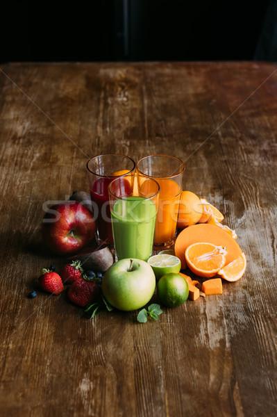 Stockfoto: Bril · vers · vruchten