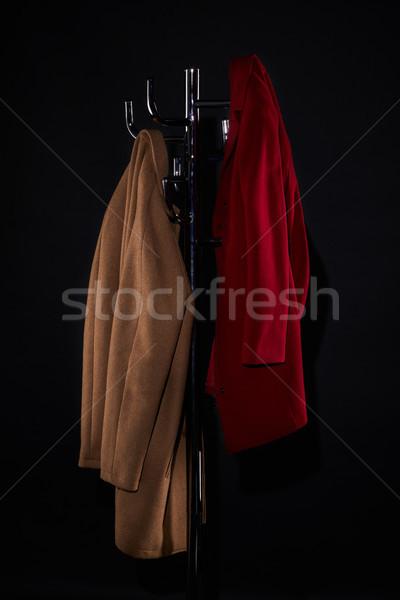 классический пальто стойку изолированный черный моде Сток-фото © LightFieldStudios