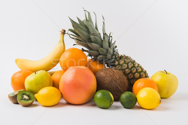 various fruits laying on white background Stock photo © LightFieldStudios