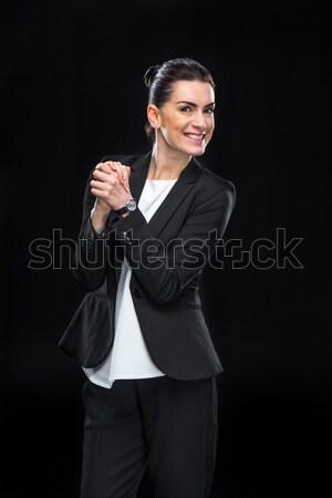 Vonzó fiatal üzletasszony féltékeny öltöny másfelé néz Stock fotó © LightFieldStudios