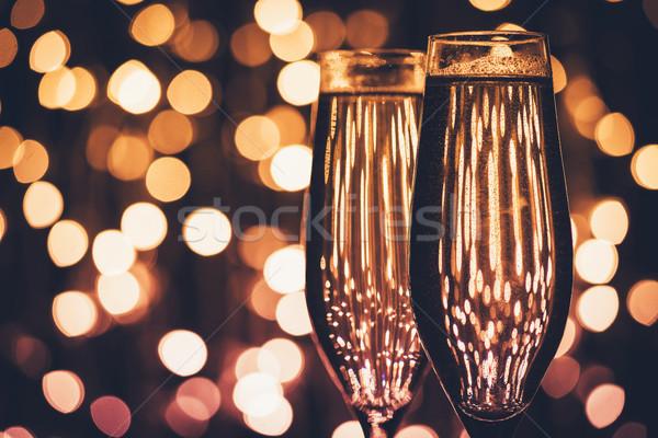 glasses of champagne Stock photo © LightFieldStudios