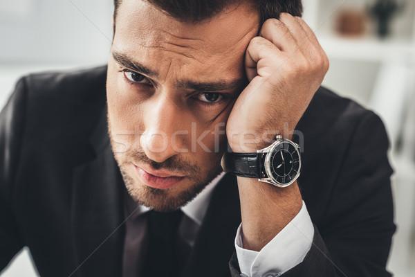 Moe zakenman portret jonge naar Stockfoto © LightFieldStudios