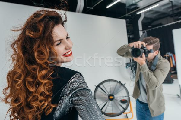 photographer and beautiful model  Stock photo © LightFieldStudios