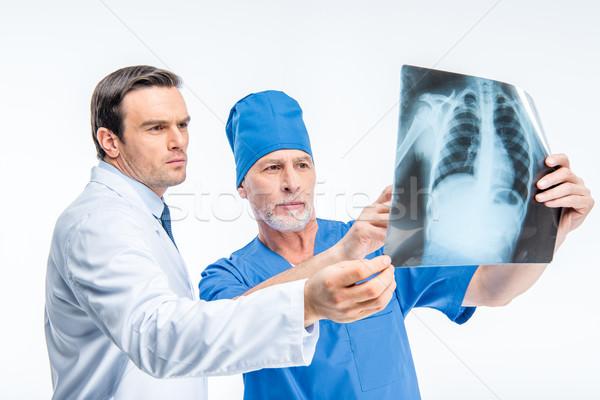 Doktorlar xray görüntü iki erkek Stok fotoğraf © LightFieldStudios