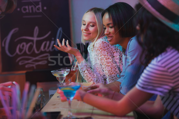 multicultural women having party Stock photo © LightFieldStudios