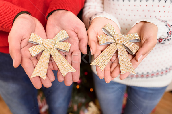 decorative bows in hands Stock photo © LightFieldStudios