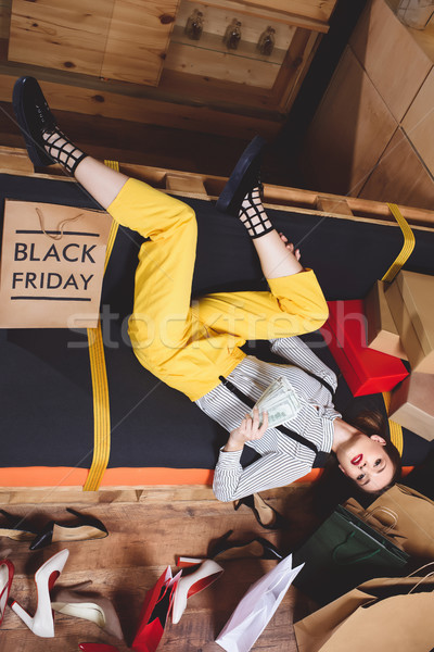 shopaholic resting after black friday Stock photo © LightFieldStudios
