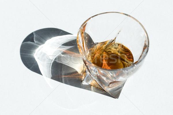 Cognac verre vue luxe blanche Photo stock © LightFieldStudios