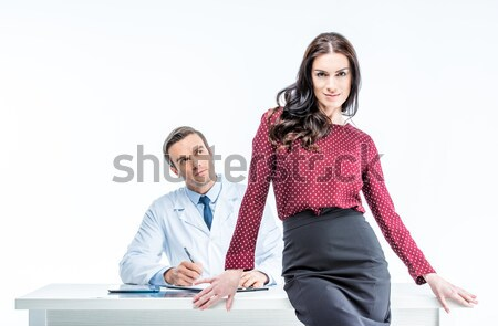 Young woman and doctor Stock photo © LightFieldStudios