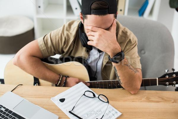 музыканта молодые рабочих новых проект Сток-фото © LightFieldStudios