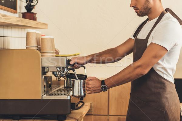 Barista koffie cafe Stockfoto © LightFieldStudios