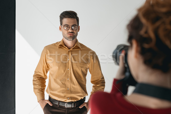 handsome stylish model Stock photo © LightFieldStudios