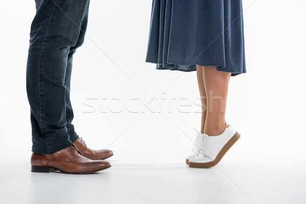 Jambes homme femme faible permanent Photo stock © LightFieldStudios