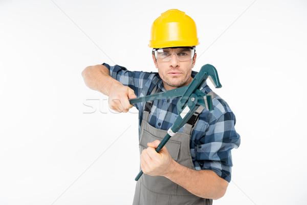 Foto d'archivio: Professionali · maschio · casco