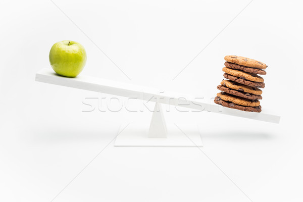 Appel chocolade cookies swing geïsoleerd witte Stockfoto © LightFieldStudios