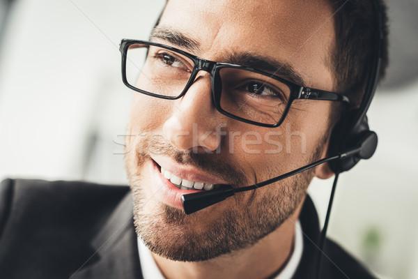 Technische ondersteuning portret knap jonge call center Stockfoto © LightFieldStudios