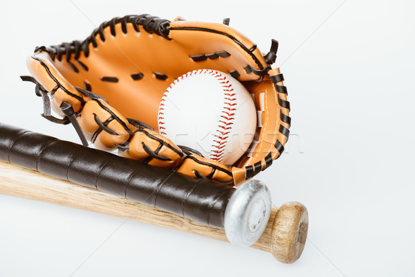 Béisbol pelota primer plano tiro aislado Foto stock © LightFieldStudios