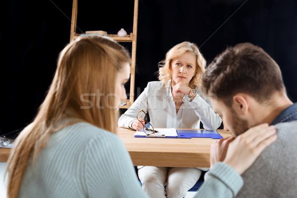 Psycholoog achteraanzicht ander arts medische Stockfoto © LightFieldStudios