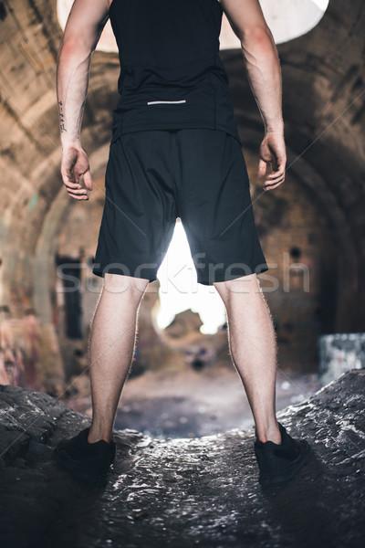 男 立って 遺跡 表示 スポーツウェア フィットネス ストックフォト © LightFieldStudios