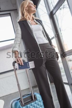 sportswoman running in city Stock photo © LightFieldStudios