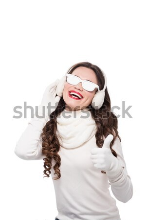 woman in winter attire wearing sunglasses Stock photo © LightFieldStudios