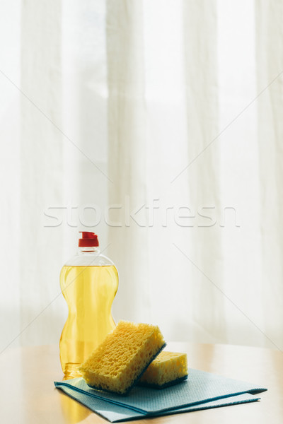 Cleaning fluid and sponges Stock photo © LightFieldStudios