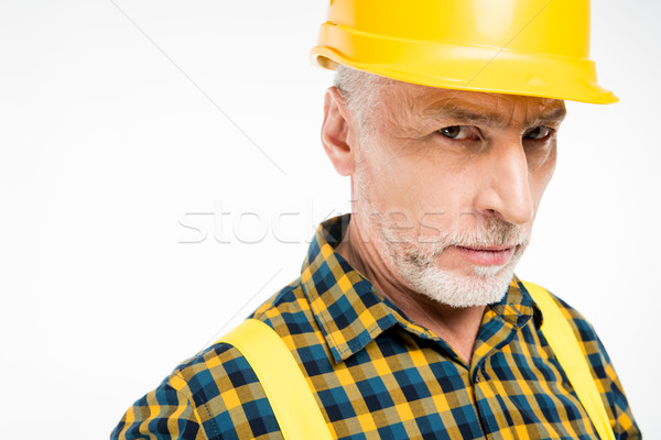 Workman in hard hat Stock photo © LightFieldStudios