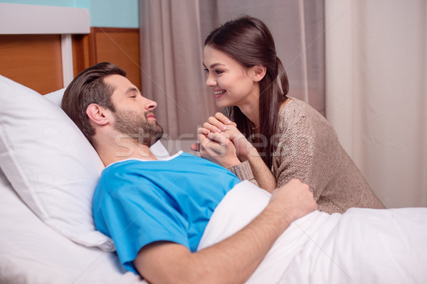 Man and woman in hospital Stock photo © LightFieldStudios