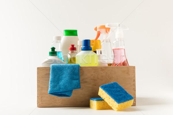 cleaning equipment in box Stock photo © LightFieldStudios