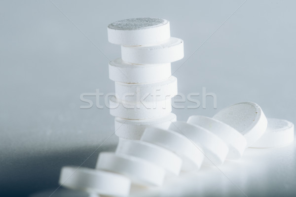 Witte pillen grijs Stockfoto © LightFieldStudios