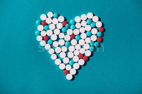 красочный таблетки сердце символ Top мнение Сток-фото © LightFieldStudios